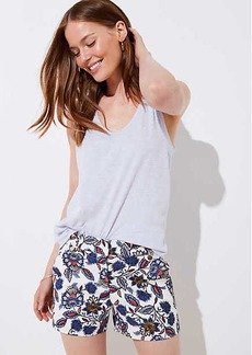 LOFT Summer Blossom Button Tab Shorts