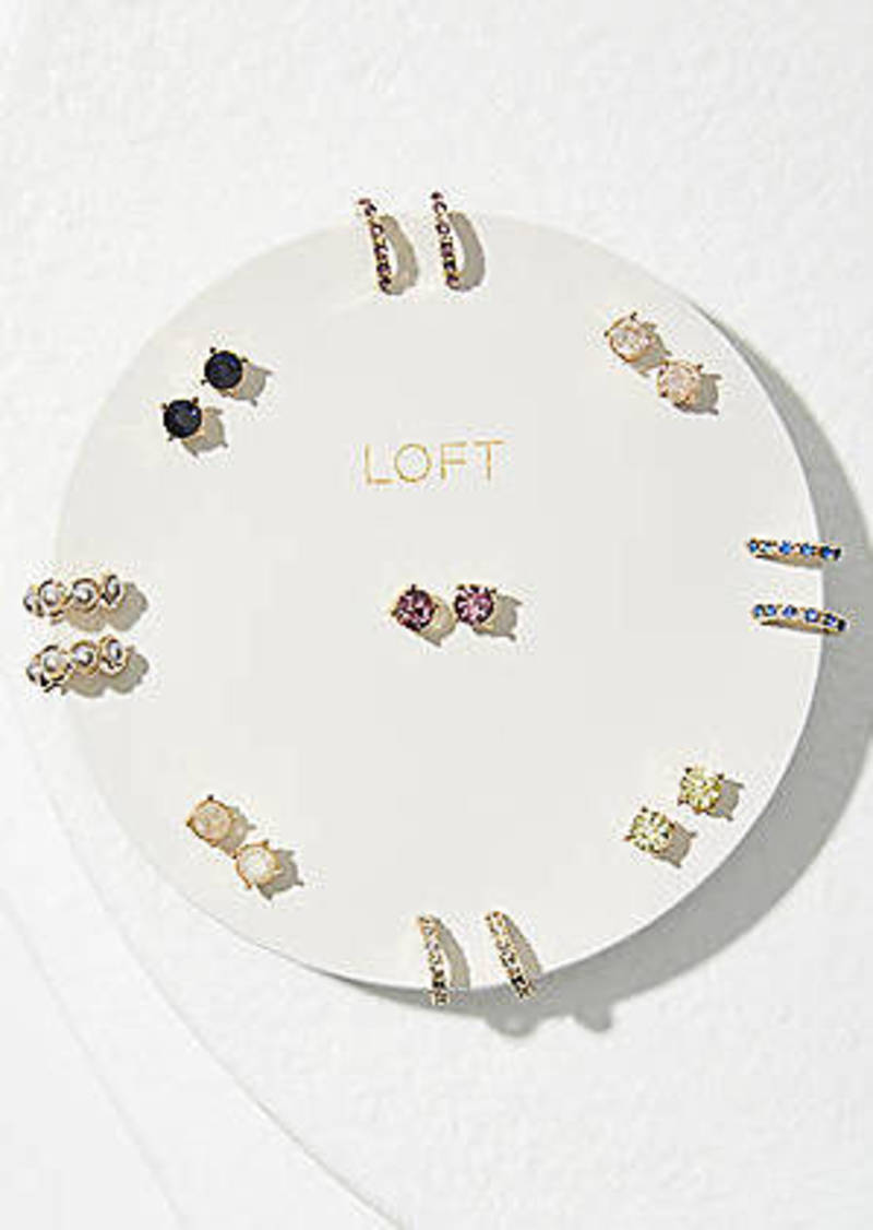 LOFT Pearlized Sparkle Stud Earring Set