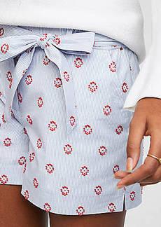 LOFT Sun Dot Tie Waist Shorts