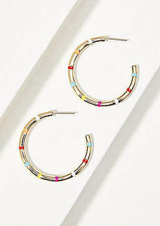 LOFT Sunrise Stone Hoop Earrings