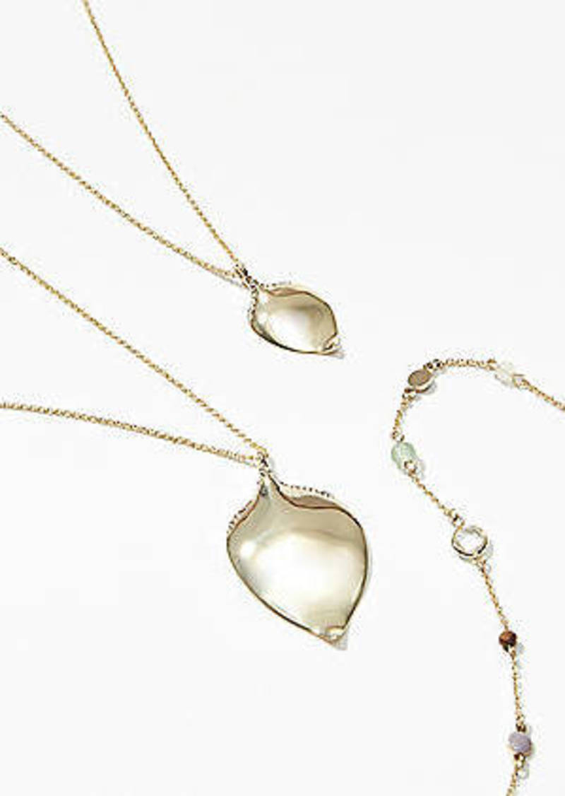 LOFT Stone Drop Layered Necklace