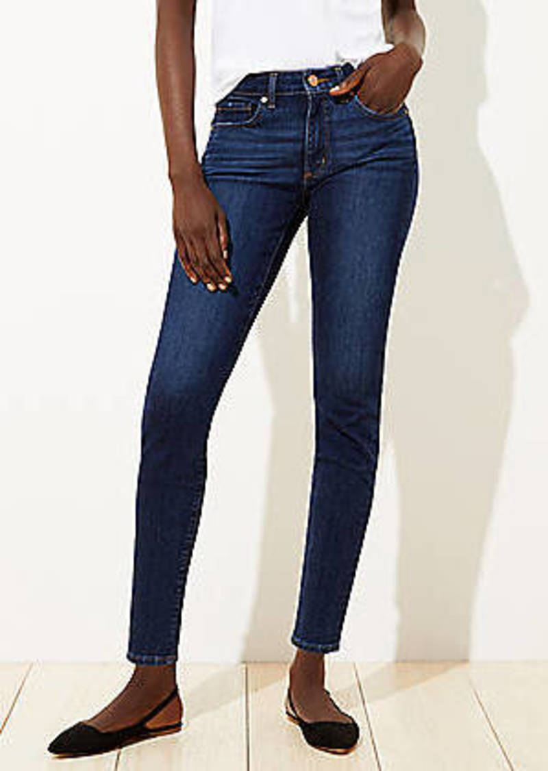 LOFT Curvy Slim Pocket Skinny Jeans in Vivid Dark Indigo Wash