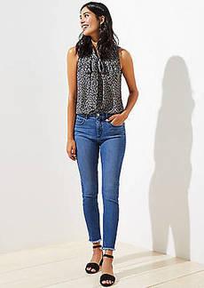 LOFT High Rise Slim Pocket Skinny Jeans