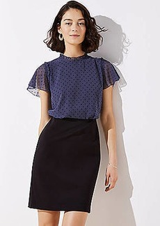 LOFT Swiss Dot Skirt Dress