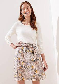 LOFT Tall Blossom Tie Waist Skirt