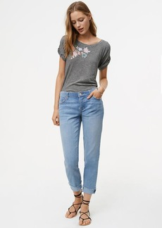 LOFT Tall Boyfriend Jeans in Light Indigo Wash