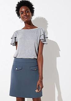 LOFT Tall Button Pocket Shift Skirt