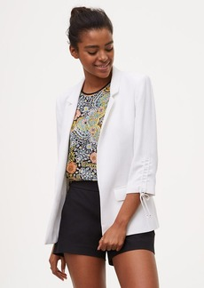 Tall Cinched Sleeve Open Blazer