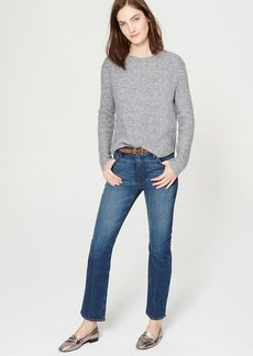Tall Cropped Straight Leg Jeans in Dark Stonewash