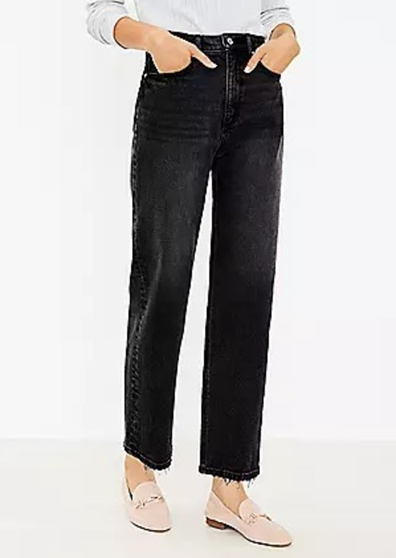 LOFT Tall Curvy 90s Straight Jeans in Washed Black Wash