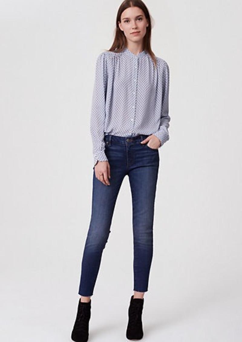5ea6516a74 LOFT Tall Curvy Frayed Skinny Jeans in Classic Mid Vintage Wash | Denim