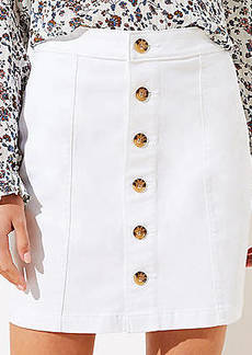 LOFT Tall Denim Button Down Skirt