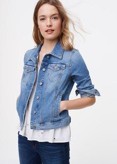 Tall Denim Jacket in Staple Mid Indigo Wash
