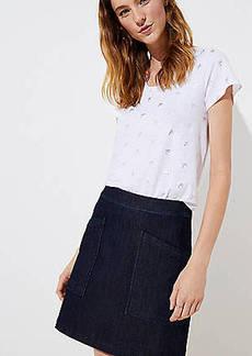 LOFT Tall Denim Pocket Shift Skirt