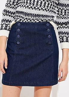 LOFT Tall Denim Sailor Skirt