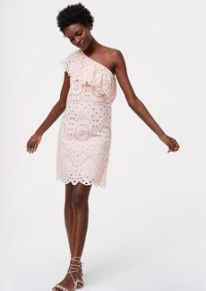 Tall Eyelet One Shoulder Dress