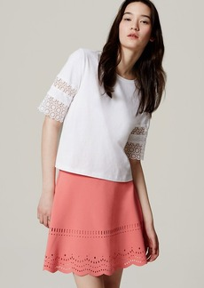 Tall Eyelet Scallop Skirt