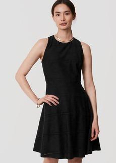Tall Eyelet Striped Flare Dress