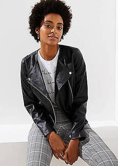 LOFT Tall Faux Leather Moto Jacket