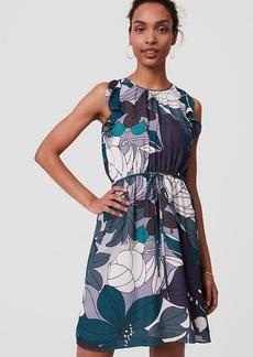 Tall Floral Ruffle Tie Waist Dress