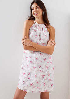 LOFT Tall Floral Sprinkle Halter Swing Dress