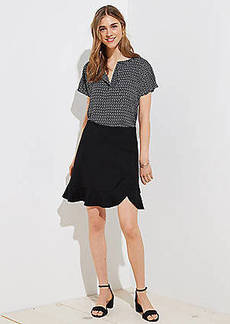 LOFT Tall Flounce Pull On Skirt