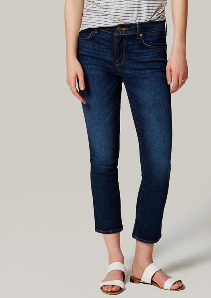 LOFT Tall Modern Kick Crop Jeans in Dark Original Indigo Wash