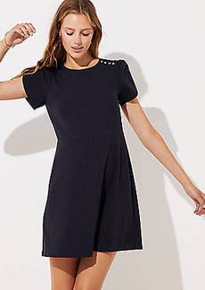 LOFT Tall Pinstriped Shoulder Button Dress