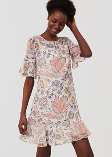 Tall Shimmer Floral Flounce Dress
