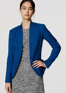 Tall Textured Collarless Blazer