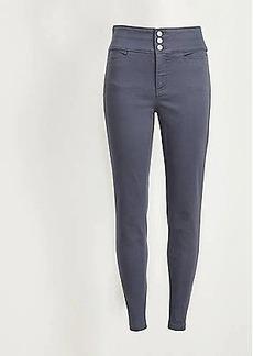LOFT Tall Textured High Waist Skinny Pants