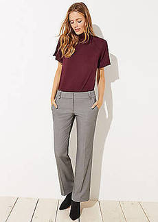 LOFT Tall Trousers in Buttoned Belt Loop in Marisa Fit