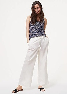 LOFT Tall Wide Leg Pants in Linen Cotton