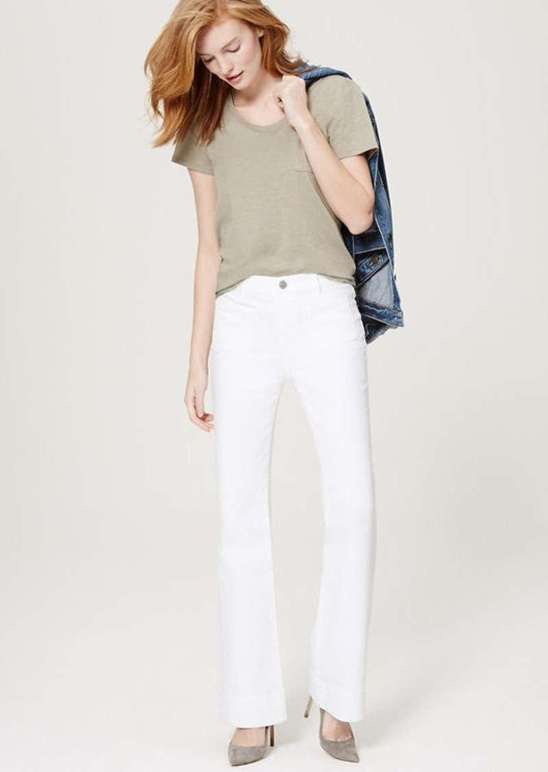LOFT Tall Wide Leg Trouser Jeans in White