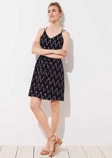 LOFT Tall Zig Zag Strappy Cami Dress