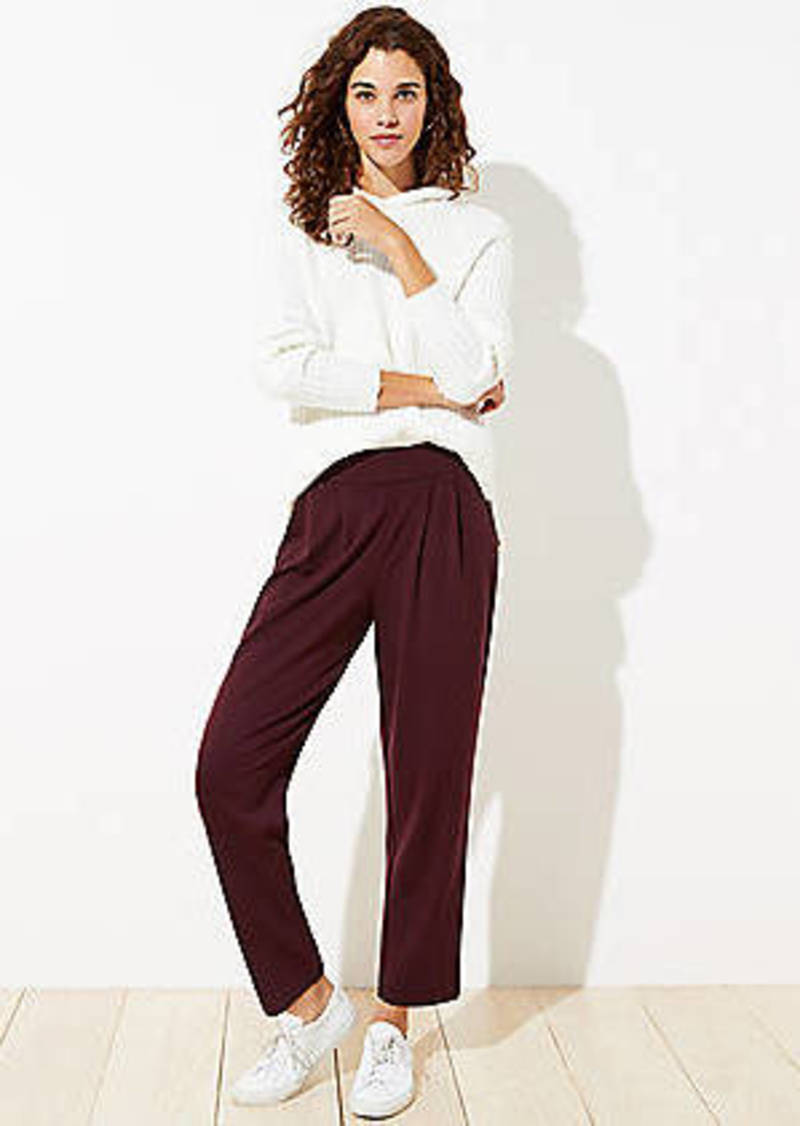 LOFT Tapered Pull On Ponte Pants
