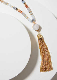 LOFT Tassel Beaded Necklace