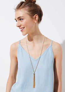 LOFT Tassel Beaded Necklace