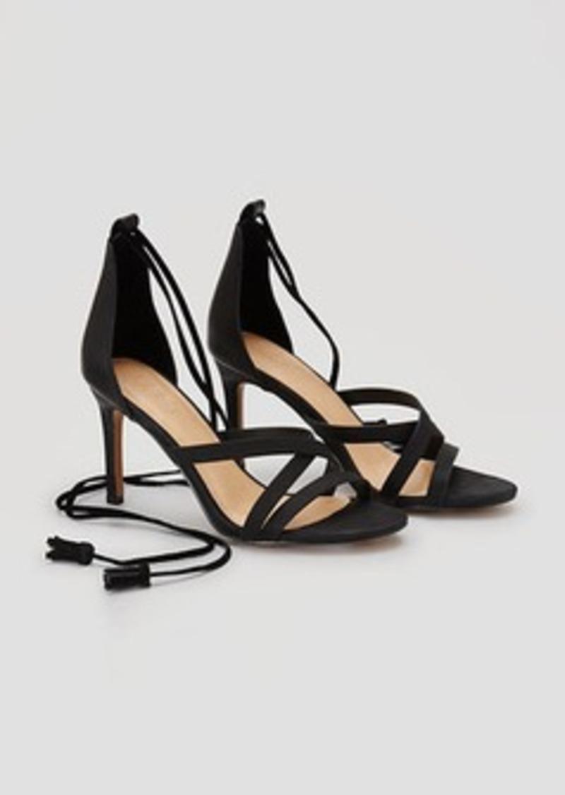 LOFT Tasseled Ankle Tie Heels