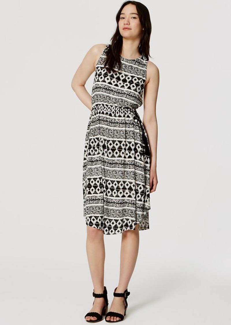 LOFT Tasseled Midi Dress