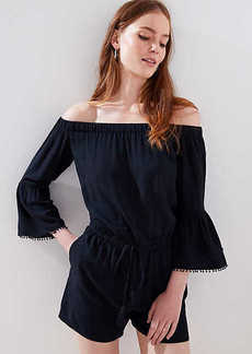 LOFT Tasseled Off The Shoulder Romper