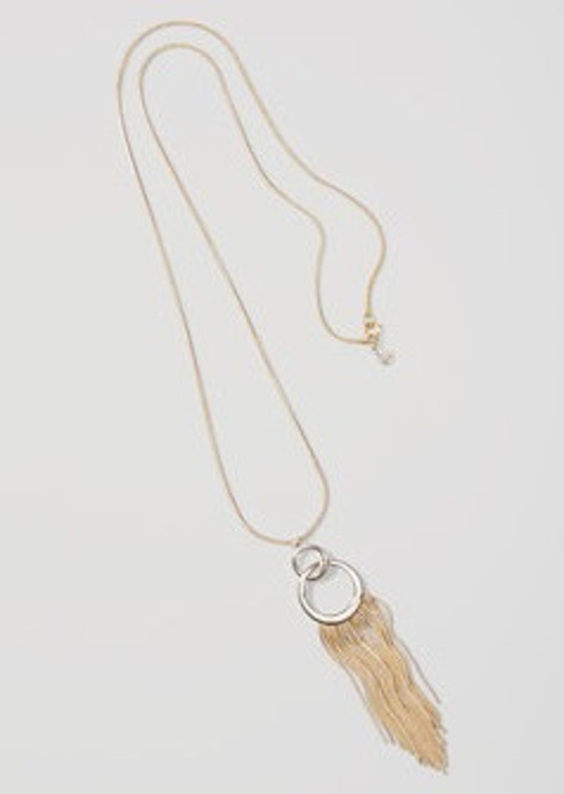 LOFT Tasseled Pendant Necklace