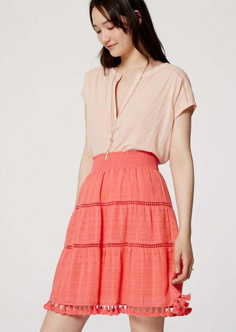 LOFT Tasseled Skirt