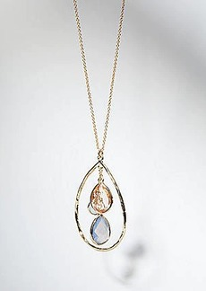 LOFT Teardrop Dangle Pendant Necklace