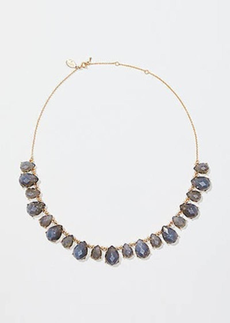 LOFT Teardrop Stone Statement Necklace