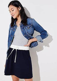 LOFT Terry Drawstring Skirt