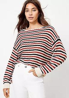 LOFT Textured Boatneck Sweater