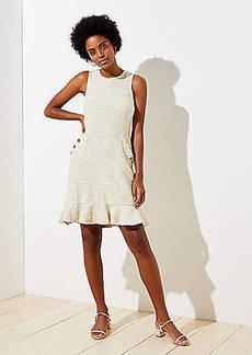 LOFT Textured Button Pocket Dress