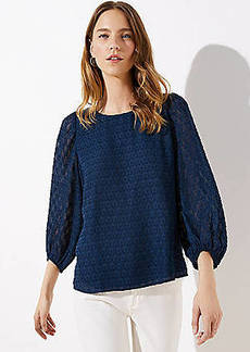 LOFT Textured Drapey Top