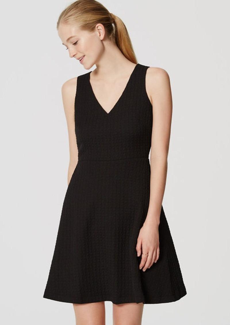 LOFT Textured Flare Dress | Dresses